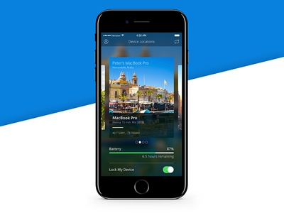 Location Tracker - 020 location tracker travel malta concept ui design ui ios iphone 7 sketch daily ui