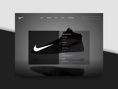 Onboarding - 023 minimal black and white onboarding sneakers nike concept ui design ui website sketch daily ui