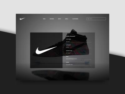 Onboarding - 023 minimal black and white onboarding sneakers nike concept ui design ui website sketch daily ui
