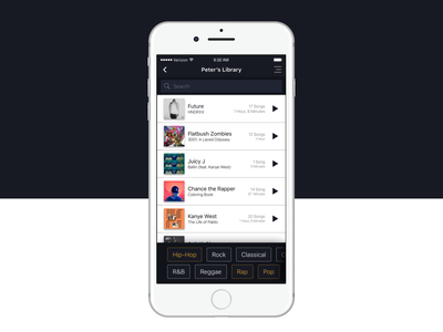 Search - 022 daily ui sketch iphone ui ios ui mobile search ui design concept music search rap hip hop filters