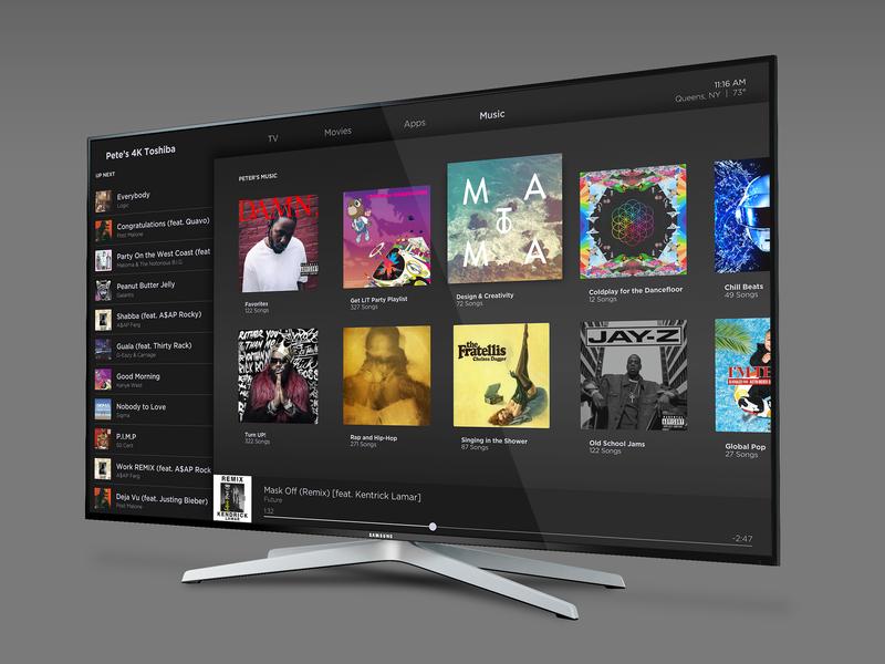 TV App - 025 uidesign sketch music dashboard music dashboard app dashboard interaction design app design concept music app smart tv daily ui