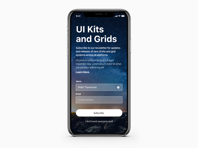 Subscribe - 026 iphone sketch ui design ios uidesign mobile form form daily ui subscribe mobile ui