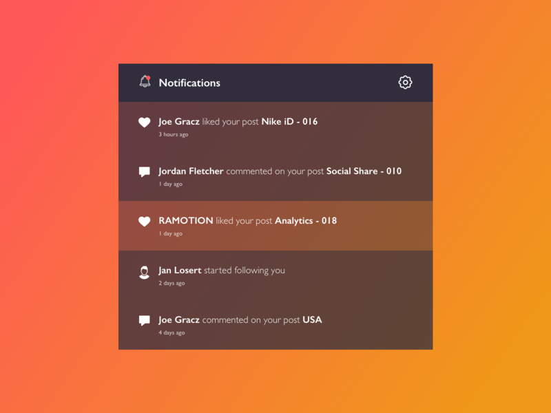 Dropdown - 027 web design sketch dropdown notifications gradient ui gradient uidesign daily ui