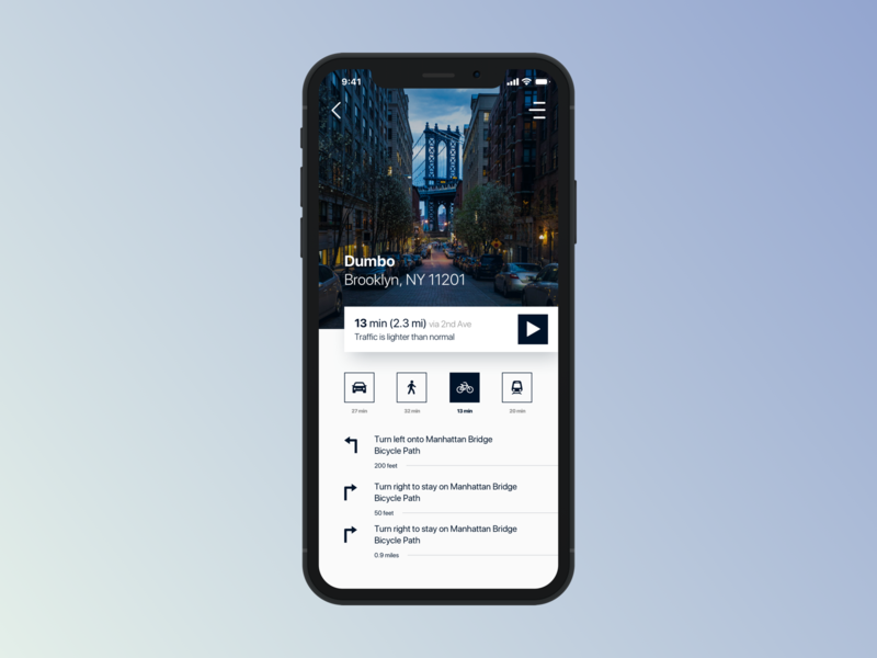 Map (Navigation) - 029 navigation design navigation bar iphone sketch uidesign iphone x mobile app design map navigation ios daily ui