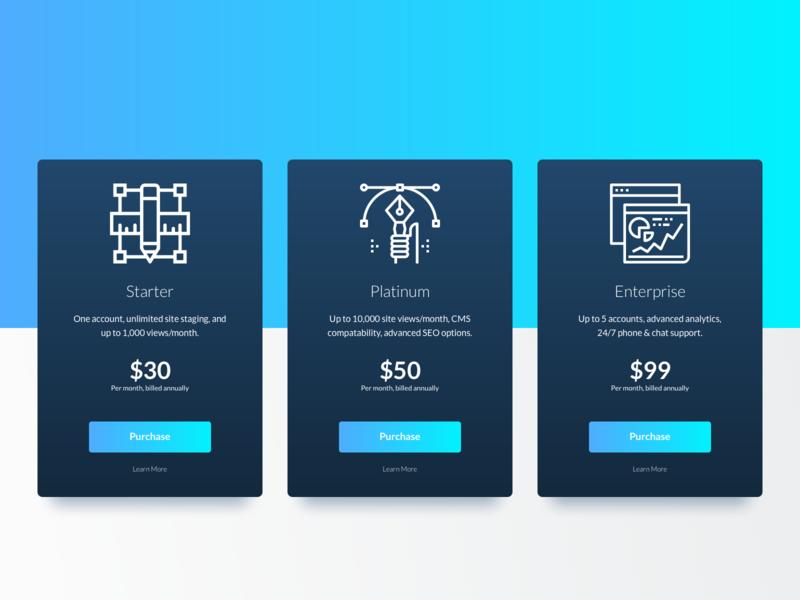 Pricing - 030 sketch icons ui gradient gradient design gradient mobile design uidesign design web design daily ui