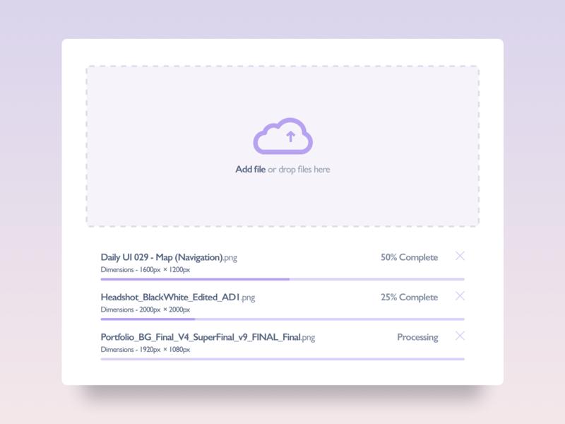File Upload - 031 file upload ui  ux design concept app sketch purple gradient web design webdesigner gradient design gradient ui daily ui