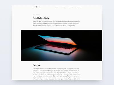 Blog Post - 035 macbook macbook pro dark image bright ui website web design typography blog post blog ui design ui concept sketch daily ui