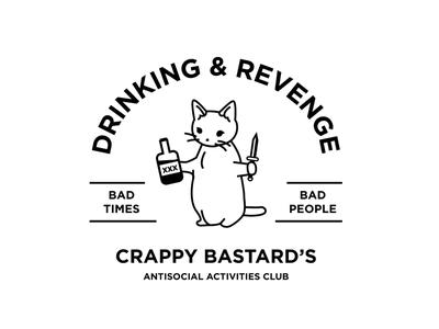 Crappy Bastard's bastard crap whiskey knife cat