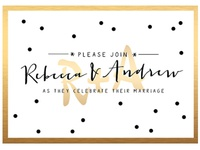 R&A wedding invite
