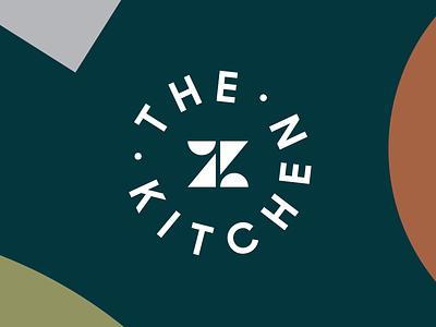 The Kitchen identity stacks totem collateral food sticker brand identity logo branding