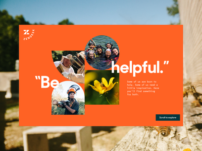 Stories About Helpful People ux ui website design shapes photography documentary film website storytelling