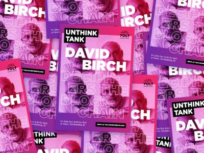 Unthink Tank #2 Poster talk rsvp poster london lecture gradient glitch free event breakfast blockchain bitcoin