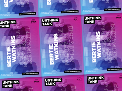 Unthink Tank #3 Poster theatre breakfast event free glitch gradient lecture london poster rsvp talk