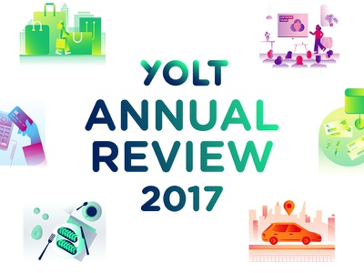 Yolt Annual Review Launch 2018 2017 year in review illustrations website launch site launch annual review