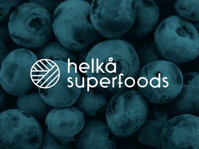 Helka Superfoods Logo mark brand mark brand blueberry vitamin superfood berry logo