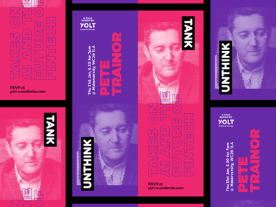 Unthink Tank is back talk rsvp poster london lecture gradient glitch free event