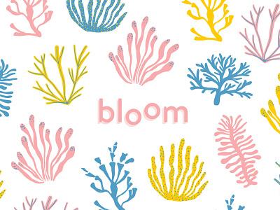 Bloom Brand Pattern pattern pastel coral branding algae