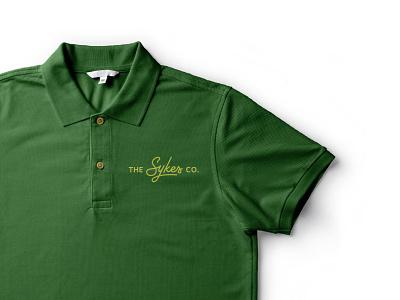 The Sykes Co. Shirt farming agriculture script wordmark branding logo