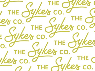 The Sykes Co. Logo Pattern pattern farming agriculture wordmark logo branding