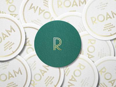 Roam Coaster bar restaurant braizen art deco coaster packaging branding