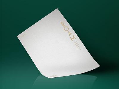 Roam Letterhead letterhead stationery braizen logo branding