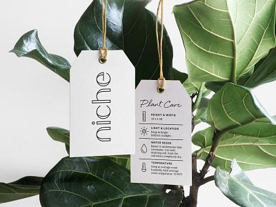 niche Hangtag braizen logo design hangtag branding plants