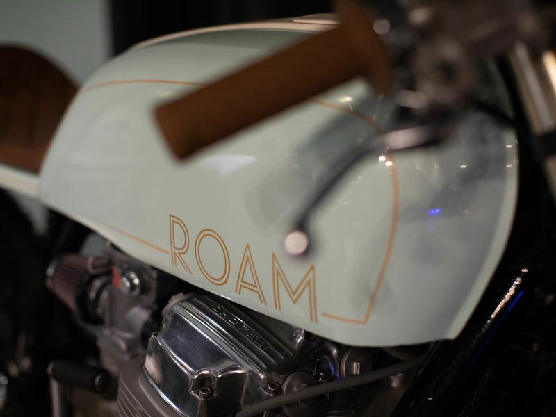 Branded Café Racer logo bar moto cafe motorcycle motorcycle art branding restaurant braizen