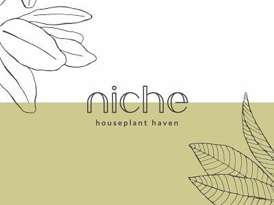 niche Logo illustration plants branding braizen logo