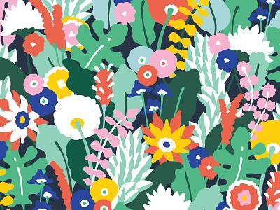Let's terrace braizen branding floral pattern