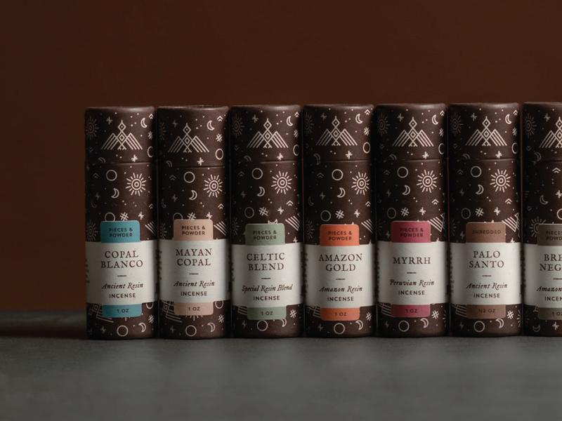 Resin Incense Packaging Line braizen incense branding packaging package design