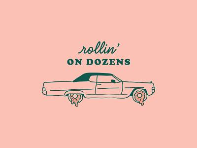 Doughy Dozens braizen branding illustration donuts