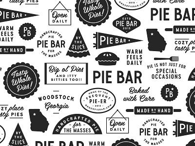 Pie Bar Pattern pattern pie illustration logo braizen branding