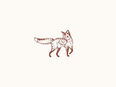 Ruby The Fox logo braizen stationery envelope branding fox