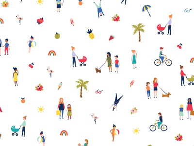 Caring for Kids icon braizen people branding illustraion
