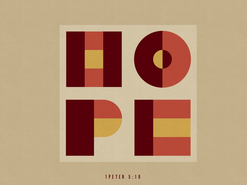 Hope daily graphic geometric geometry faith verse type typography hope