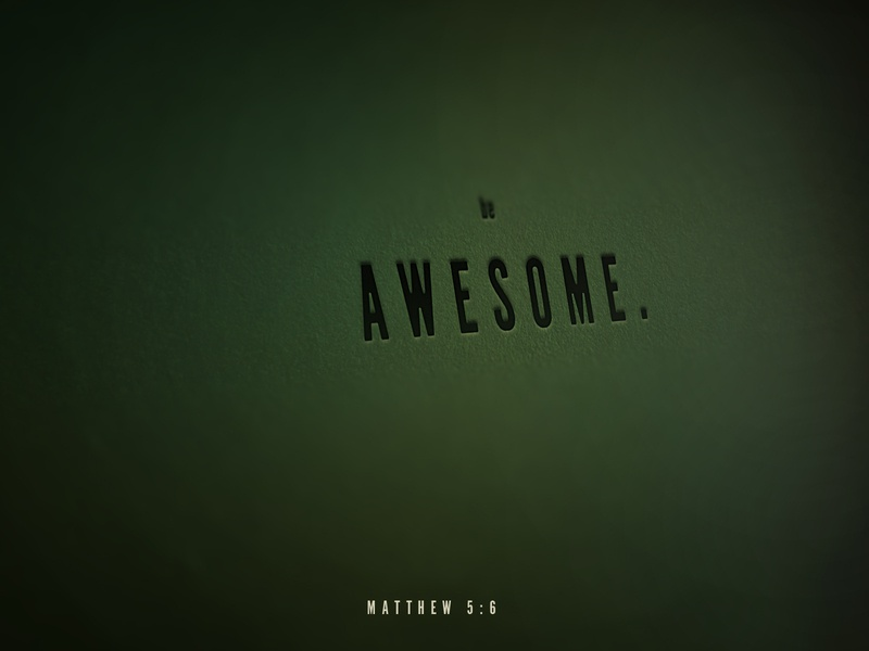 Be Awesome daily verse paper photoshop typography