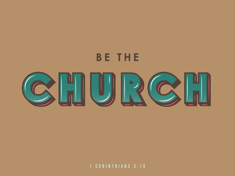 The Church type verse daily hope faith typography