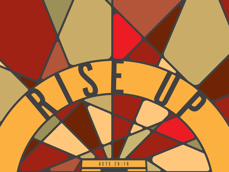 Rise Up faith verse hope daily typography