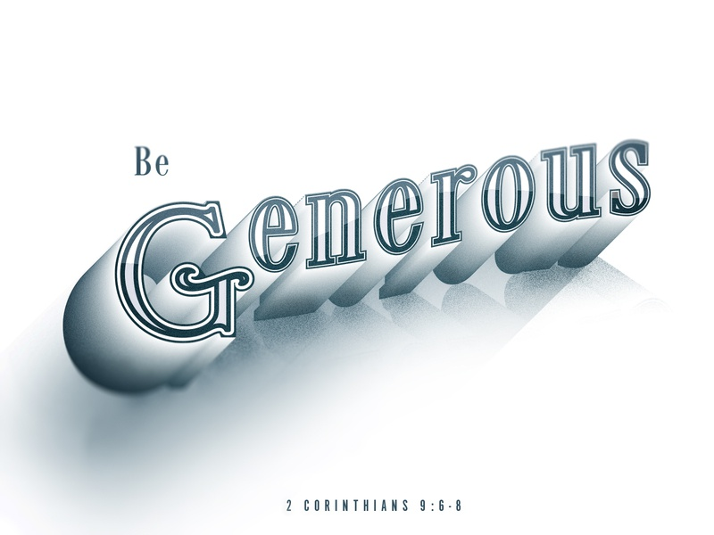 Be Generous glass victorian generous verse typography daily