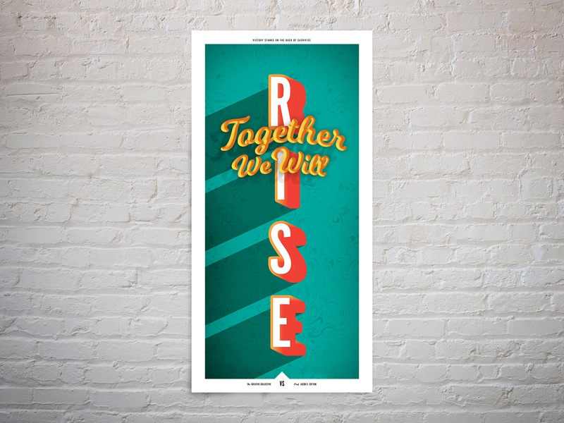 Rise Poster hope typeface competition poster typography