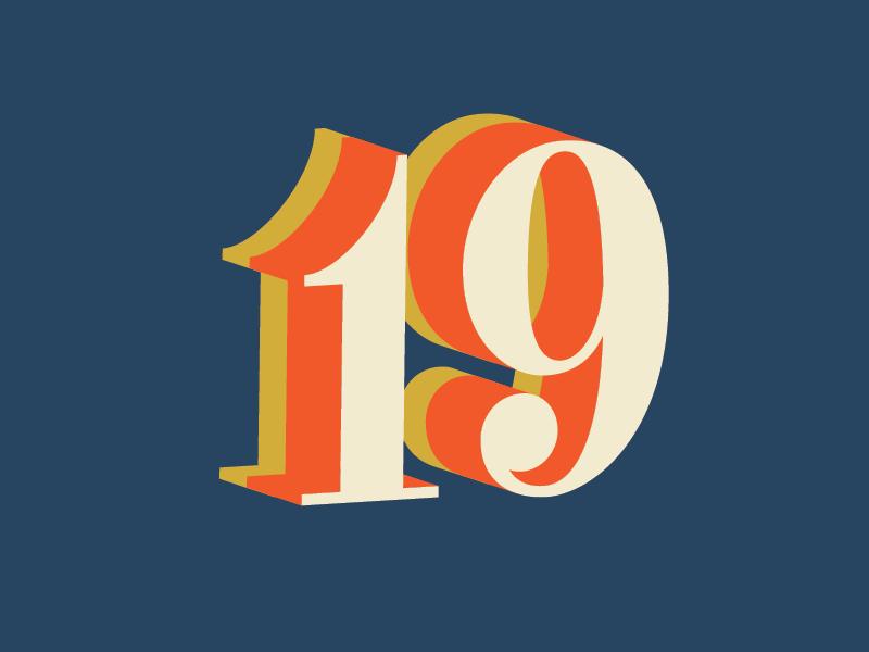19 colors 3d 19 countdown