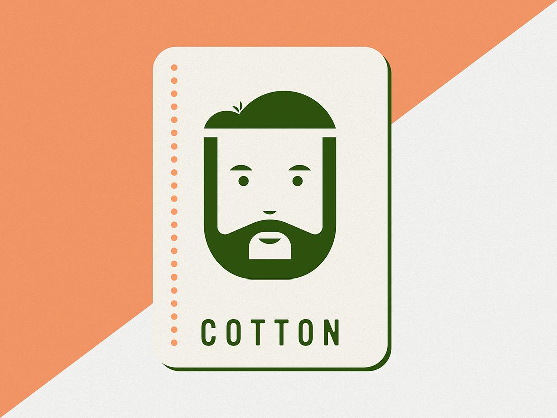Gambling Man beard playing card card self portrait vector illustration