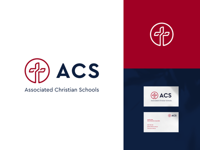 ACS Branding schools business cards branding association education christian visual identity logo design branding christian logo education logo logodesign logo