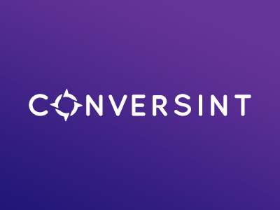 Conversint bubble ceo team chat speech typography symbol logo