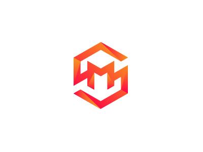 SM Monogram modern wordmark lettermark design typography logo monogram