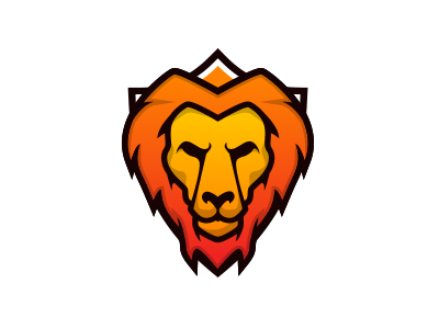 Lion Mascot shield logo animal sport mascot lion