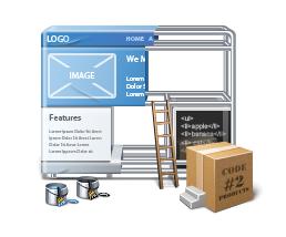 Website Builder Illustration illustration icon website builder ui