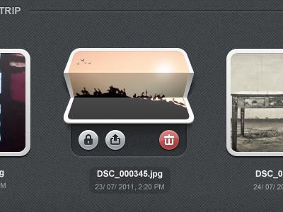 Photofold ui interface photo app album fold thumbnails
