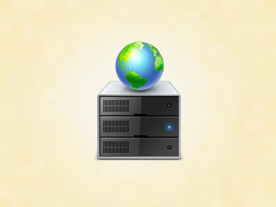 Web Host icon globe server web hosting