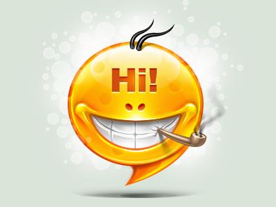 Hi illustration icon